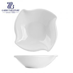 11 inch hotel porcelain bowl with square shape for wholesale