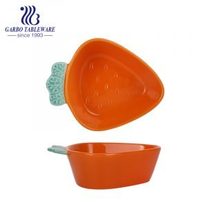 260ml carrot shape orange underglaze colour porcelain bakeware