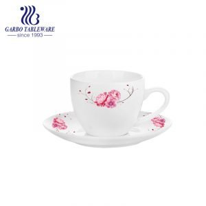 New round shape 220ml tea cup and saucer set