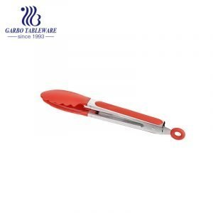 GARBO 9 Inch Stainless Steel Food Tong with Silicone Head