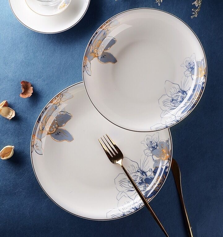 What is the best selling bone china dinnerware for market and what kind of print designs is popular?