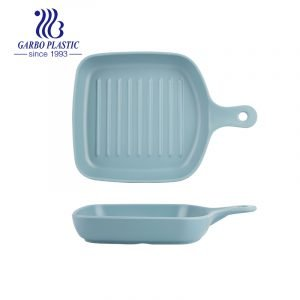Durable Plastic Baking Dish with Unique Square Shaped Individual Pasta Lasagna Pan with Simple Handle For Home Kitchen