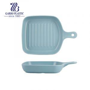 Assadeira de plástico durável com forma quadrada única de lasanha de massa individual com alça simples para cozinha doméstica