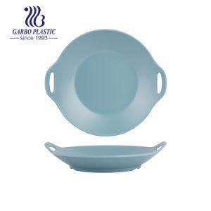 Tigela de servir grande de plástico inquebrável e empilhável com alças Tigelas para massas na cor azul