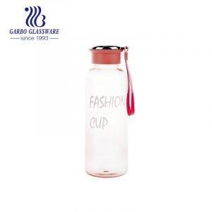 Оптовая прочная безопасная розовая пластиковая бутылка для питьевой воды для занятий спортом на открытом воздухе