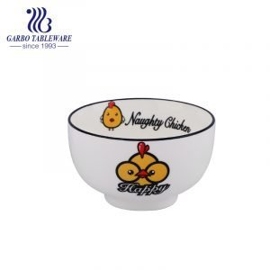 Wholesale 300ml round vintage antique porcelain bowl