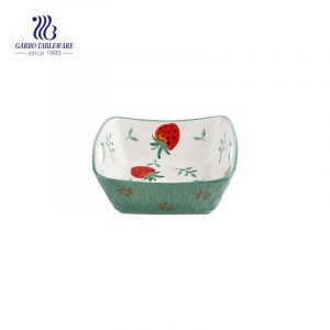 6 inch porcelain baking bowl with strawberry printing designs