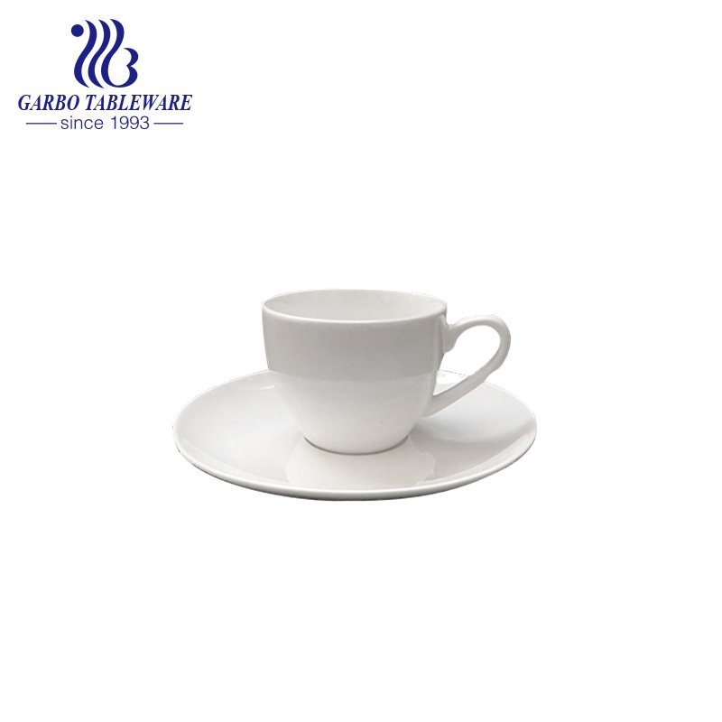 small white new bone china cup and saucer