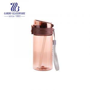 Garbo 15oz BPA-free portable pink plastic water bottle