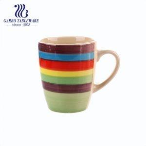 Cheap wholesale China supplier ceramic mug colored stoneware stock mugs popular classic drinking cup