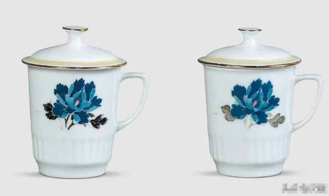 When did Chinese porcelain cups come with handles