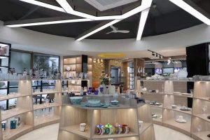 Garbo internacional cerâmica louça, utensílios de vidro, talheres de aço inoxidável e ferramenta de cozinha mostra online no Alibaba em março.