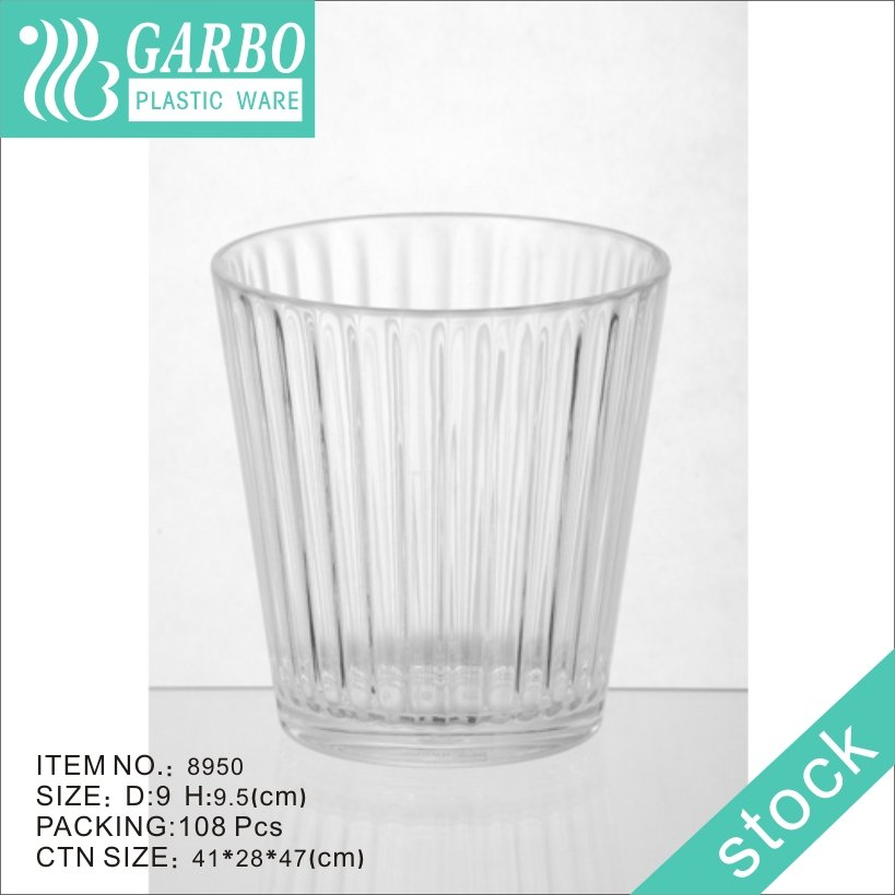 360ml polycarbonate plastic whisky drinking glass cup