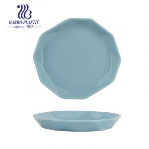 Platos de plástico apilables para servir, duraderos, aptos para lavavajillas, perfectos para uso en el hogar, fiestas o restaurantes