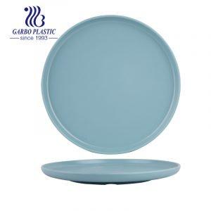 Bandejas de plástico redondas simples de gran tamaño duraderas para pasteles, ensaladas, frutas y comidas, perfectas para cualquier evento en interiores y exteriores