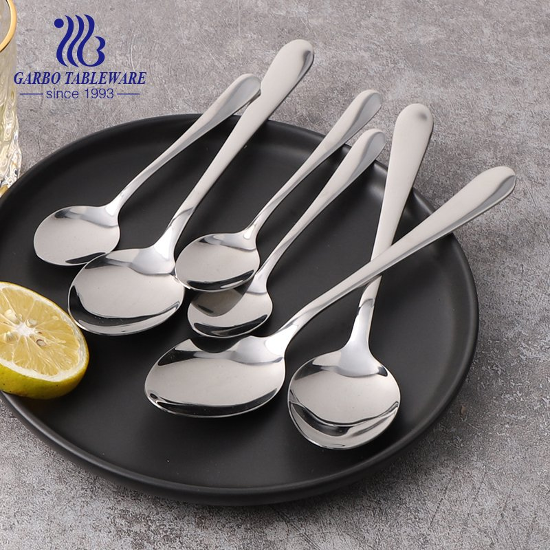 430/410/304 Color box package 24pcs sets stainless steel dessert tea dinner spoon for sale