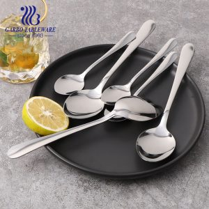 430/410/304 Hot sale stainless steel dinner spoon mirror polish for hotel restaurant use