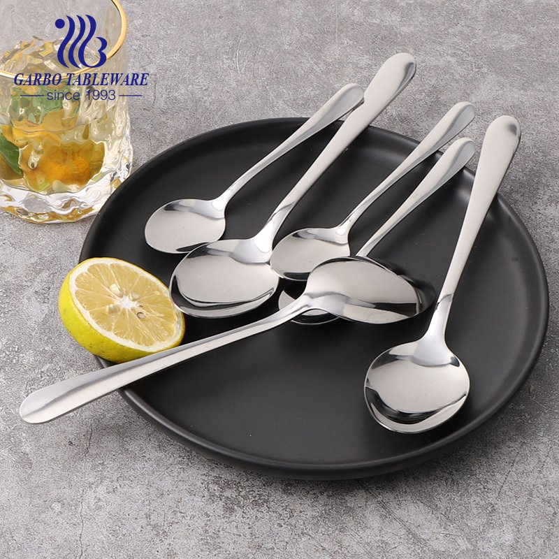 cutlery sets factory 430/410/304 Hot sale stainless steel dinner spoon mirror polish for hotel restaurant use
