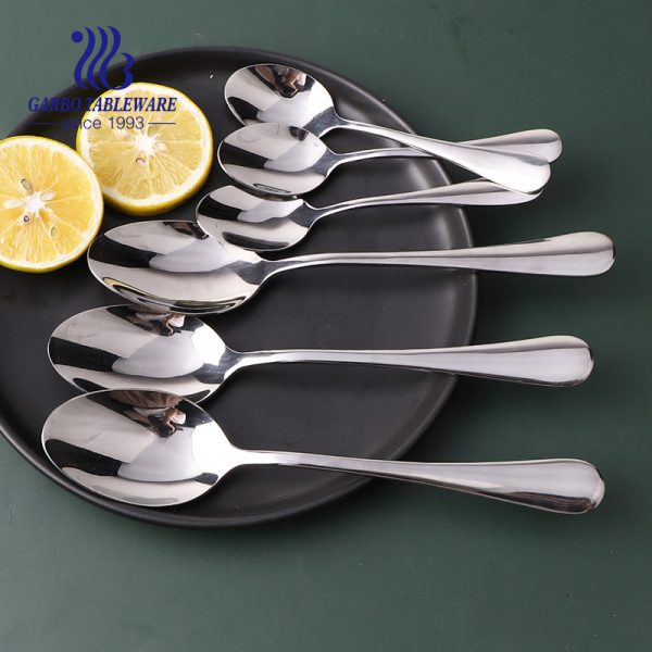 Wholesale Kitchenware Stainless Steel Mirror Polish Dinner Spoon Flatware Cutlery Set