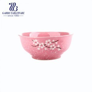 Wintersweet series stoneware dinnerware hand-painted rice bowl for wholesale
