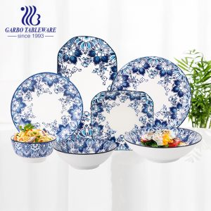 Chaozhou factory luxury ceramic tableware under glazed royal porcelain dinnerware sets
