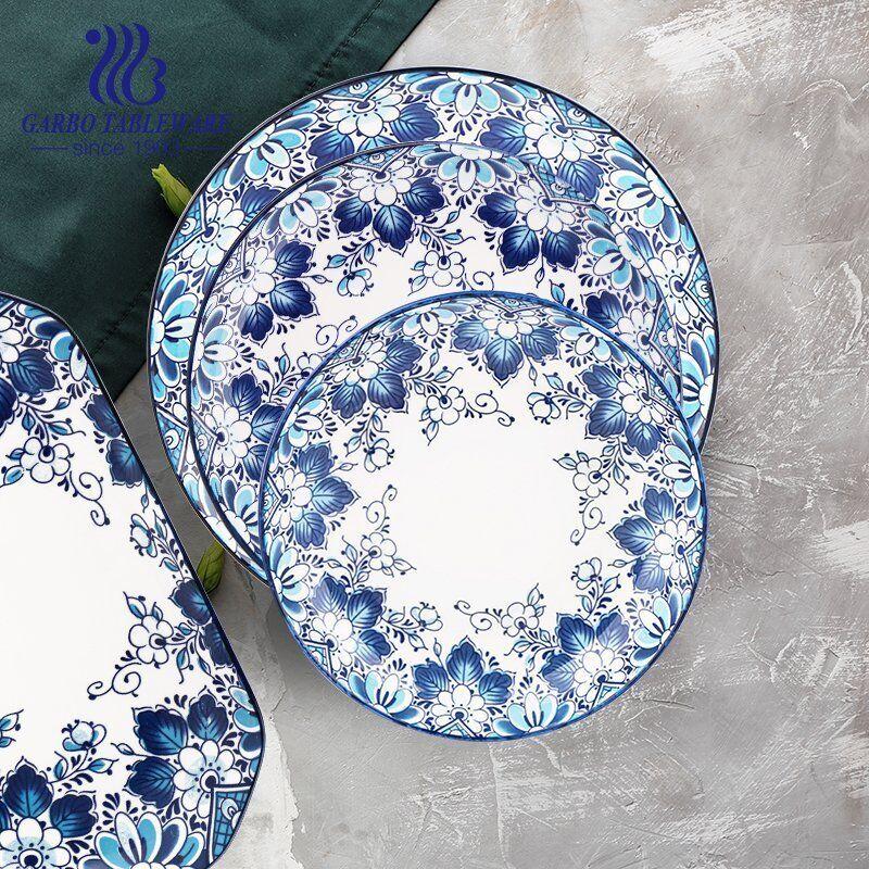 Stylish plates with napkin on grey background wholesale porcelain dinner sets