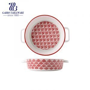 8 inch printing oven proof porcelain bake dish