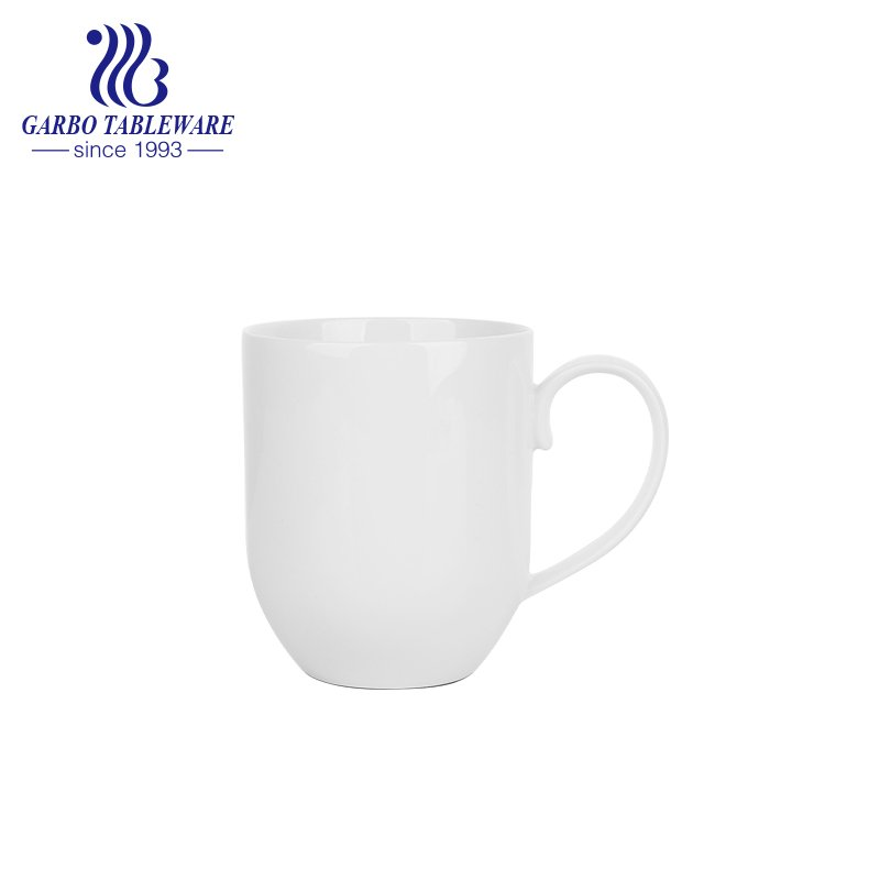 Clear smooth new bone china ceramic water mug 400ml