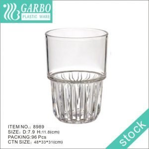 Stackable 36cl fashion design whisky drinking polycarbonate glass cup