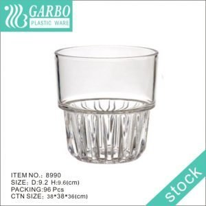 42cl polycarbonate stackable water cup with classic design