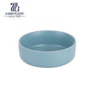 Taça de salada de sobremesa redonda de plástico saudável com palha de trigo inquebrável de 4.5 '' com design de cores personalizadas