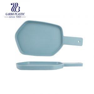 Plato para hornear de plástico resistente de gran tamaño con forma irregular para todas las estaciones con asa para la cocina del hogar sin roturas
