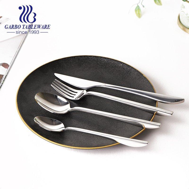 24pcs stainless steel dinner soup spoon restaurant cutlery set wedding flatware set