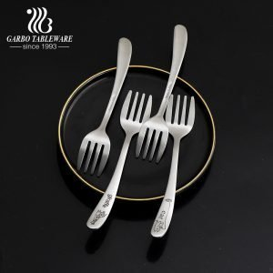 410 stainless steel forks with carved animal logos dessert for sweets cakes
