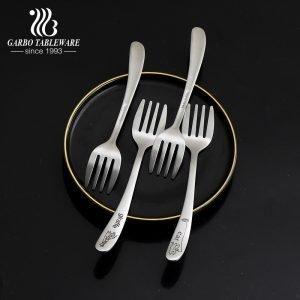 410 garfos de aço inoxidável com logotipos de animais esculpidos sobremesa para bolos doces