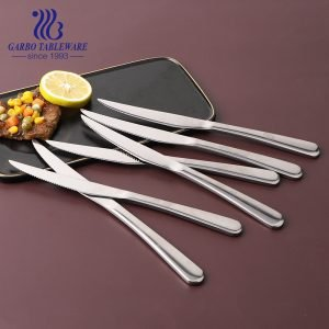 Wholesale Metal Cutlery Knife 430 High Mirror Polish 12-Piece Stainless Steel Steak Knife