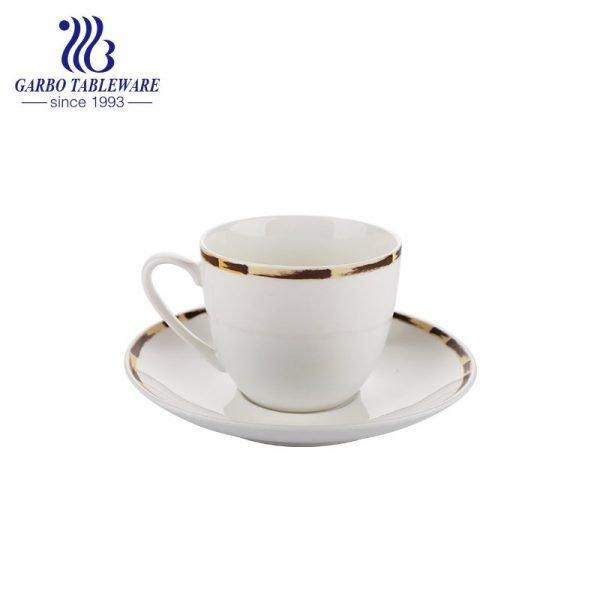 bamboo design cup and saucer