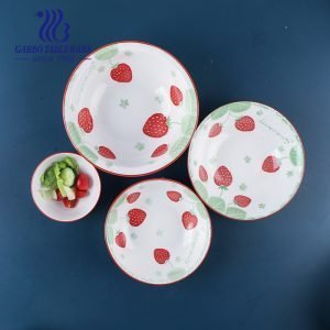 Wholesale A/B grade high quality tableware 7/8/9/10inch deep porcelain dinner plates for dinning