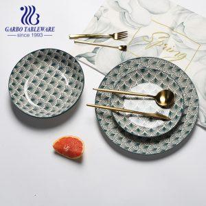 Prato de grés multifuncional de 7/8 / 10.5 polegadas para pratos planos de cerâmica