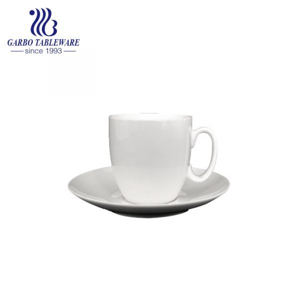 white cup and saucer set