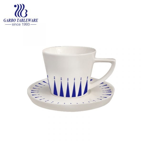 triangle cup and saucer set