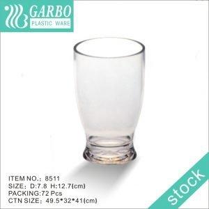 Vaso de cerveza de policarbonato de 13 oz de fondo grueso sin BPA transparente