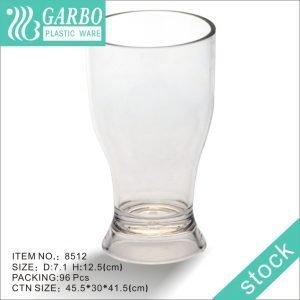 Barra al por mayor con vaso de vidrio de jugo de policarbonato transparente de 7 oz