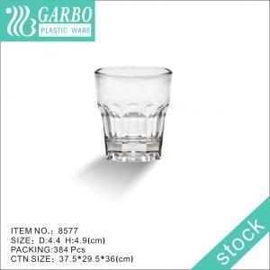 reusable rock design 1oz shot glass polycarbonate liqueur glass cup