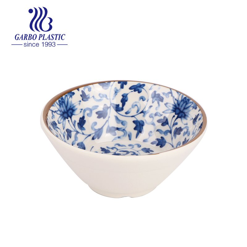 bowl with full traditional style decal design inside