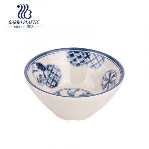 Оптовая фабрика 6 дюймов полная наклейка нетоксичная небьющаяся китайская традиционная пластиковая миска для рисового супа