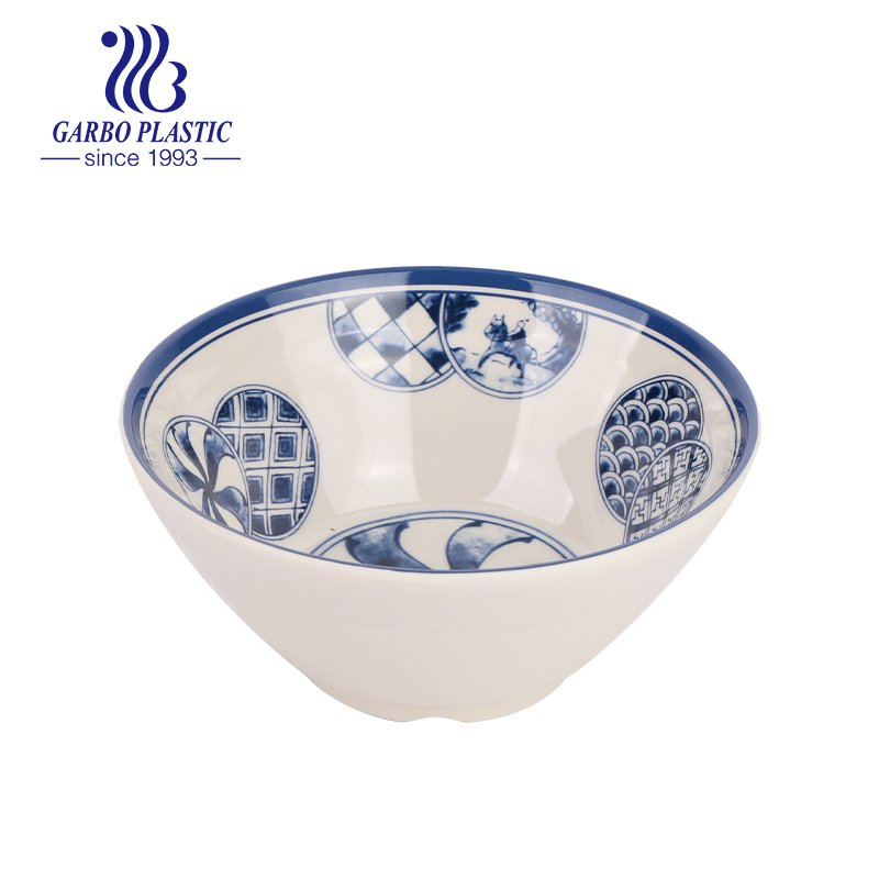 Chinese traditional style plastic rice soup bowl