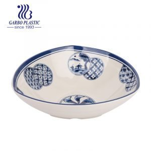 Wholesale factory classic light melamine dinnerware noodles soup bowl with a vintage pattern for table use