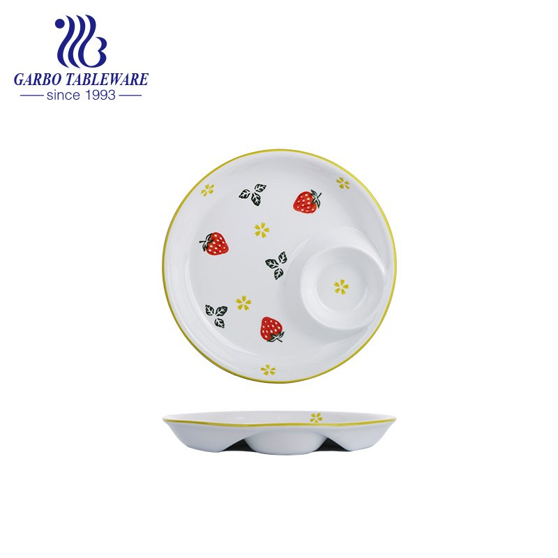 10inch round porcelain plate