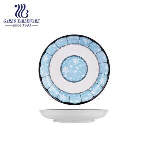 Factory price cheap hot selling custom under glazed design food grade 8inch porcelain charger plate